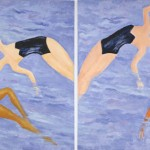 """Sea Dance"" (diptych) 48"" x 108"" Acrylic, 2009"