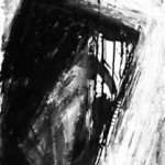 """Counterpart 36""""x16"""" Acrylic on paper 1983"""