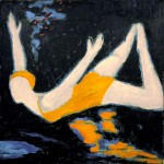 """Dive In"" 48""x48"" Acrylic, 1989"